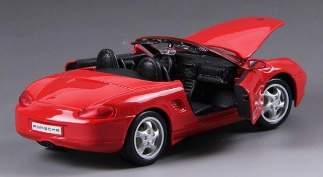 โมเดลรถ โมเดลรถยนต์ โมเดลรถเหล็ก Boxster Cabrio Red 5