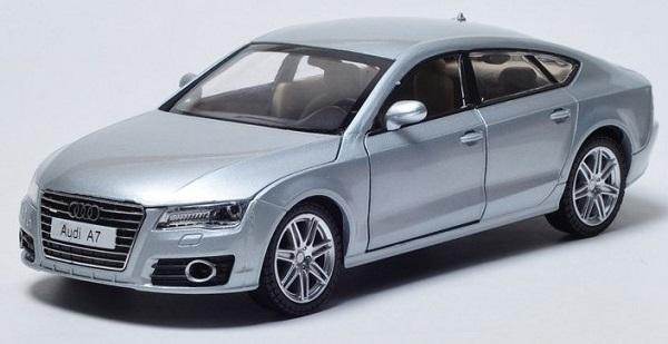 โมเดลรถเหล็ก โมเดลรถยนต์ Audi A7 เงิน 1