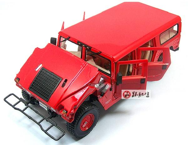 โมเดลรถ โมเดลรถเหล็ก โมเดลรถยนต์ Hummer H1 red 4
