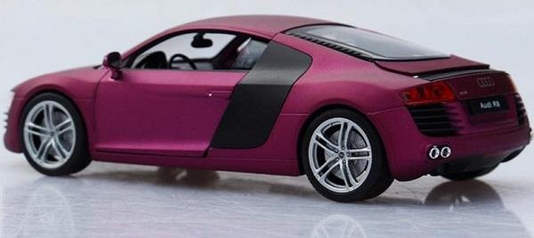 โมเดลรถ โมเดลรถเหล็ก โมเดลรถยนต์ audi r8 purple 3