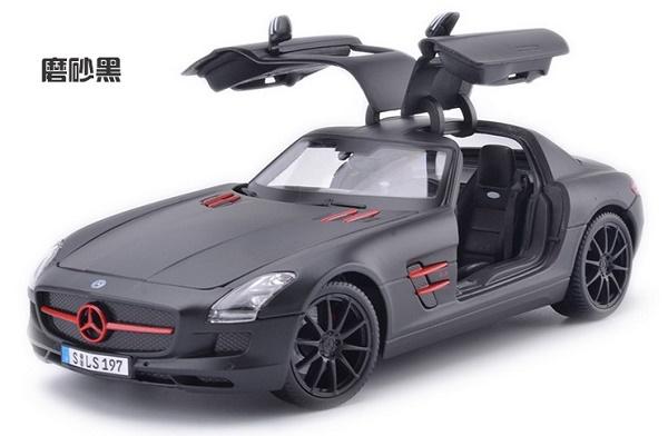 โมเดลรถ โมเดลรถเหล็ก โมเดลรถยนต์ Benz SLS AMG ดำด้าน 4