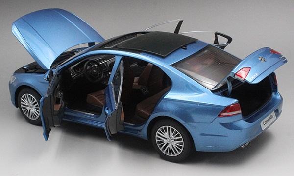 โมเดลรถ โมเดลรถเหล็ก โมเดลรถยนต์ Volkswagen Lamando น้ำเงิน 5