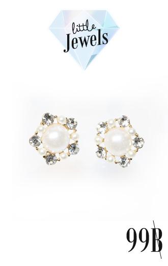 E99034 The White Pearly Earring ตุ้มหูแฟชั่น