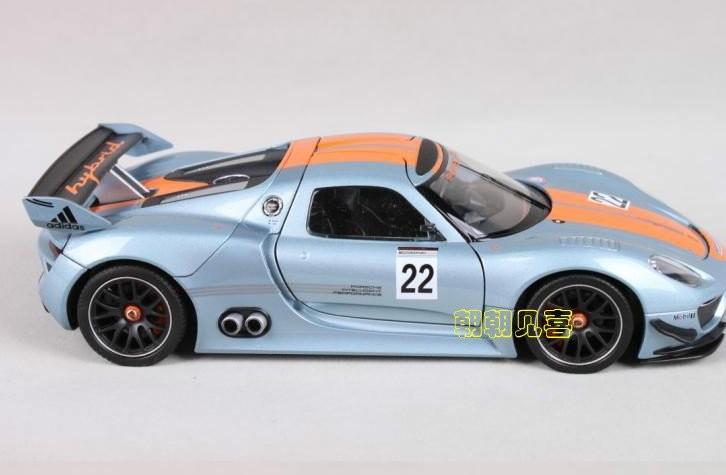 โมเดลรถเหล็ก โมเดลรถยนต์ Porsche 918 RSR 3