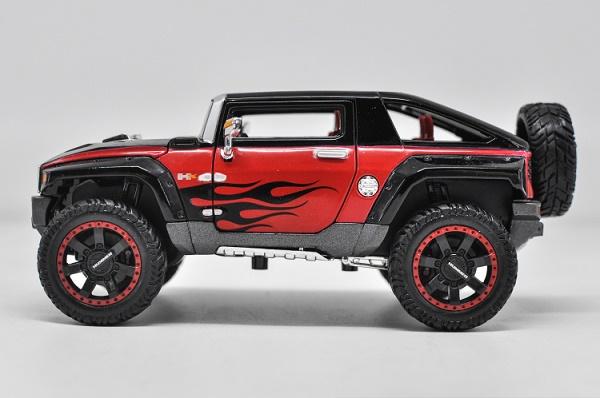 โมเดลรถเหล็ก โมเดลรถยนต์ Hummer HX black 3