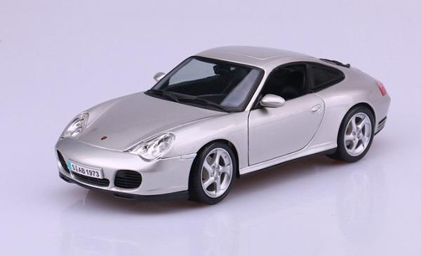 โมเดลรถ โมเดลรถเหล็ก โมเดลรถยนต์ Porsche 911 carrera 4S silver 1