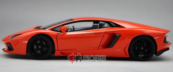 โมเดลรถ โมเดลรถยนต์ โมเดลรถเหล็ก Lamborghini lp700-4 orange 3
