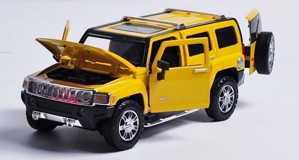 โมเดลรถเหล็ก โมเดลรถยนต์ Hummer H3 4