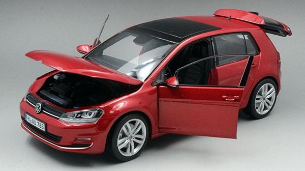 โมเดลรถ โมเดลรถเหล็ก โมเดลรถยนต์ Volkswagen Golf 7 red 4