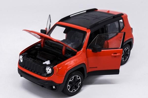 โมเดลรถเหล็ก โมเดลรถยนต์ Jeep Renegade Trailhawk red 4