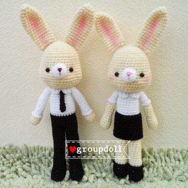 """ตุ๊กตาถัก กระต่าย นักศึกษา 11"""""""