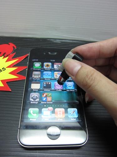 ปากกา ไอโฟน itouch แบบสั้นคะ สามารถจัดเก็บเสียบไว้ที่ชาร์จได้คะ