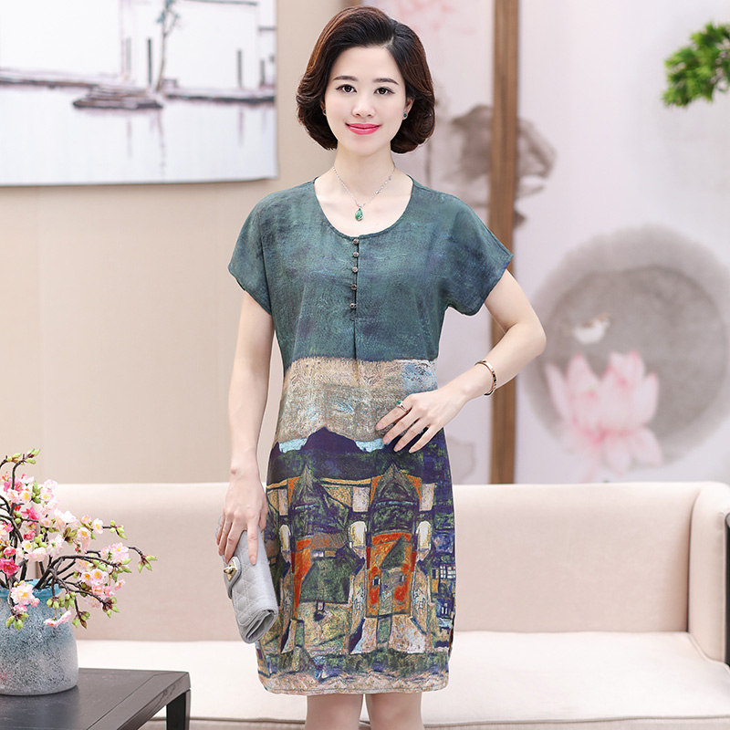 เสื้อแฟชั่นวัยกลางคน วัยคุณแม่XL-4XL สำหรับสุภาพสตรี ที่มีอายุ 40-60 ปีขึ้นไป