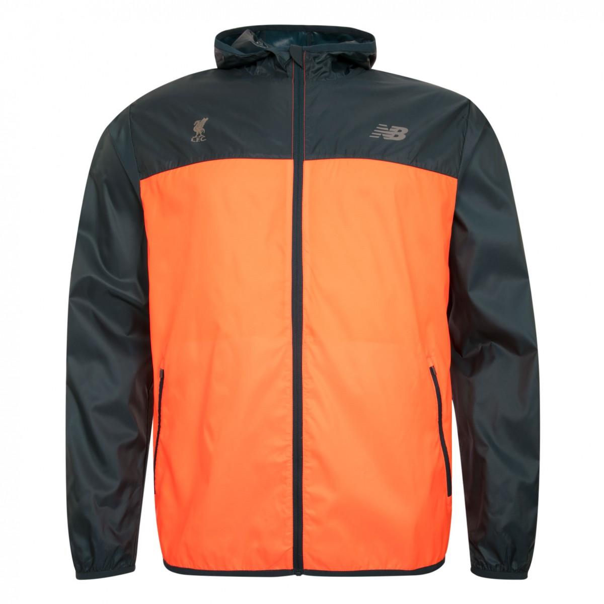 เสื้อฮู้ดนิวบาลานซ์ลิเวอร์พูลของแท้ New Balance Mens Blue Orange Windcheater Jacket