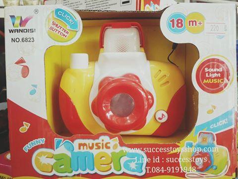 กล้องถ่ายรูปมีไฟมีเสียงเพลงดนตรี