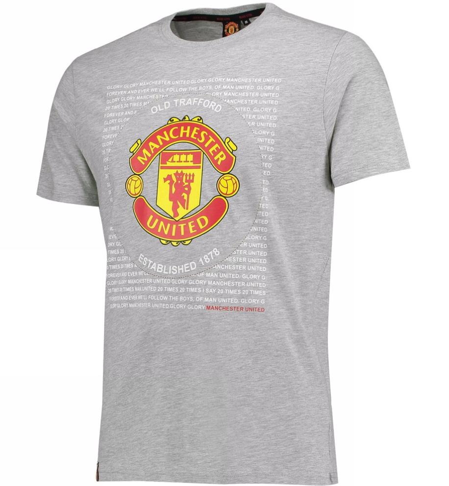 เสื้อทีเชิ้ตแมนเชสเตอร์ ยูไนเต็ด Essential Crest T-Shirt - Grey ของแท้