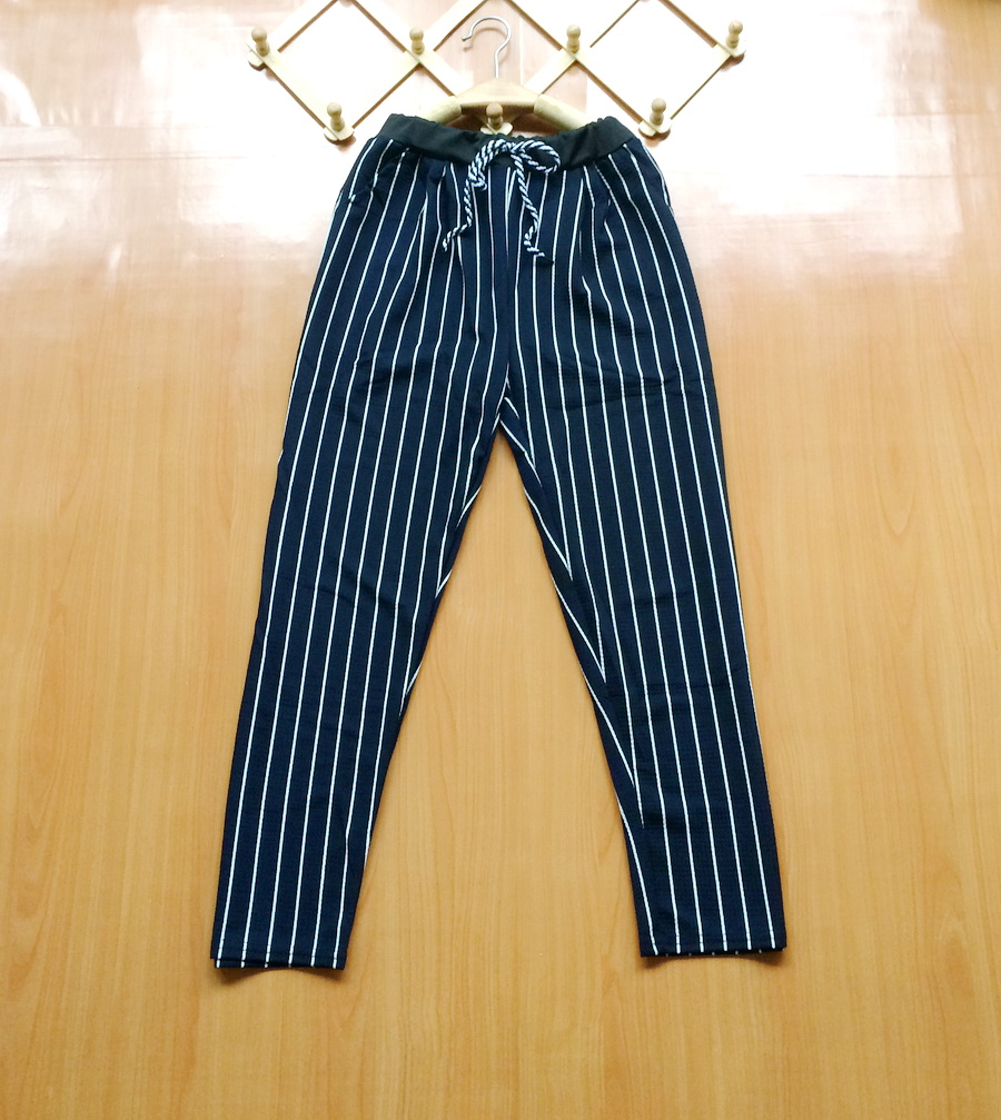 ขายส่ง:กางเกงเอวรูดสายเชือกผูกเป๋า2ข้างใส่สบาย/เอวยืดได้25-42
