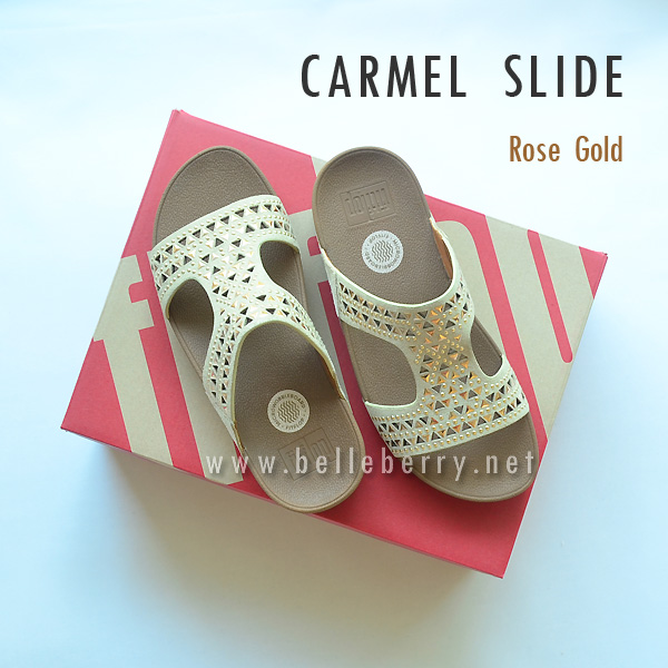 **พร้อมส่ง** FitFlop : CARMEL Slide : Rose Gold : Size US 9 / EU 41