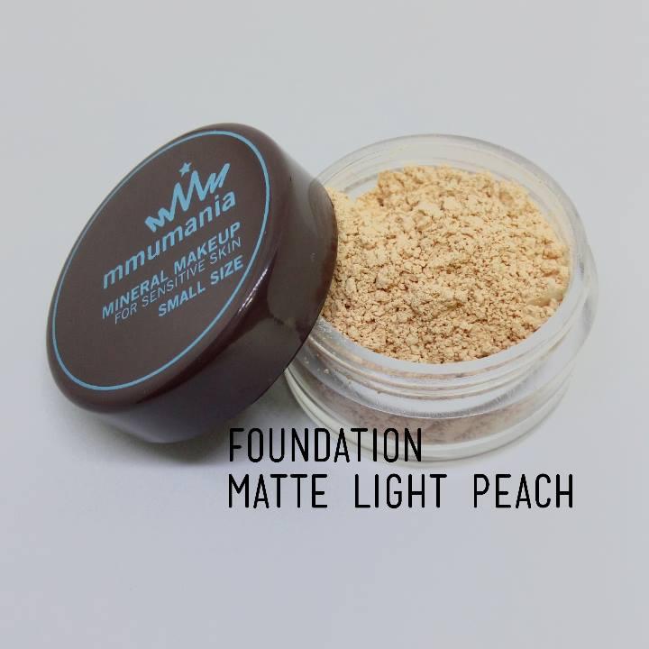 ขนาดจัดชุด MMUMANIA Matte Foundation รองพื้นสูตรควบคุมความมัน สี Light Peach ผิวขาวเหลืองอมแดง