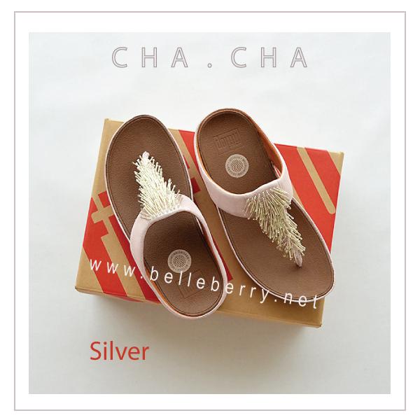 **พร้อมส่ง** FitFlop : CHA CHA : Silver : Size US 5 / EU 36