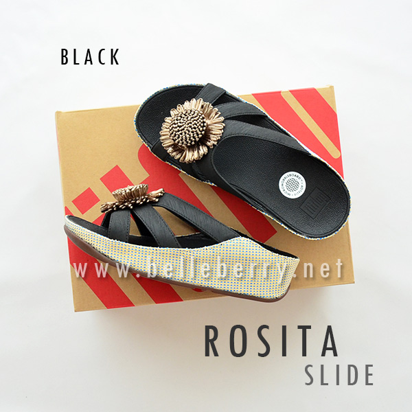 * NEW * FitFlop ROSITA Slide : Black : Size US 5 / EU 36
