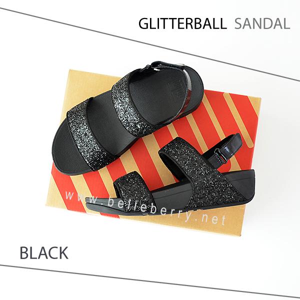 * NEW * FitFlop : GLITTERBALL Sandal : Black : Size US 6 / EU 37