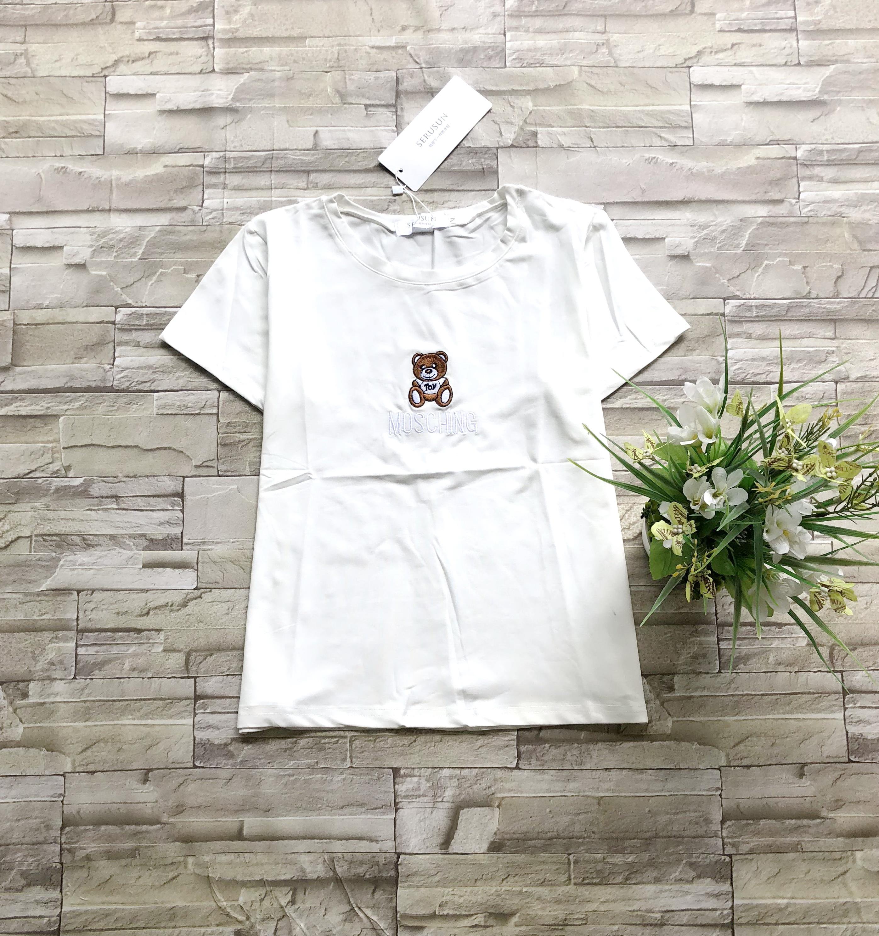 ส่ง:งานจีนเสื้อแต่งปักน้องหมีแบบน่ารักผ้านิ่มเนื้อดีไม่ยับ/อก36