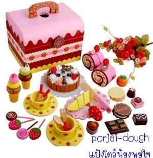 strawberry chocolate party set หูหิ้ว
