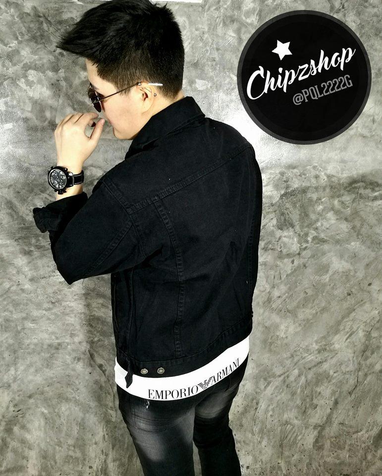 เสื้อแจ็คเก็ตยีนส์ เสื้อยีนส์สีดำ