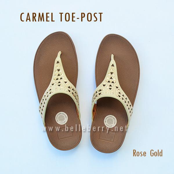 FitFlop : CARMEL Toe-Post : Rose Gold : Size US 5 / EU 36