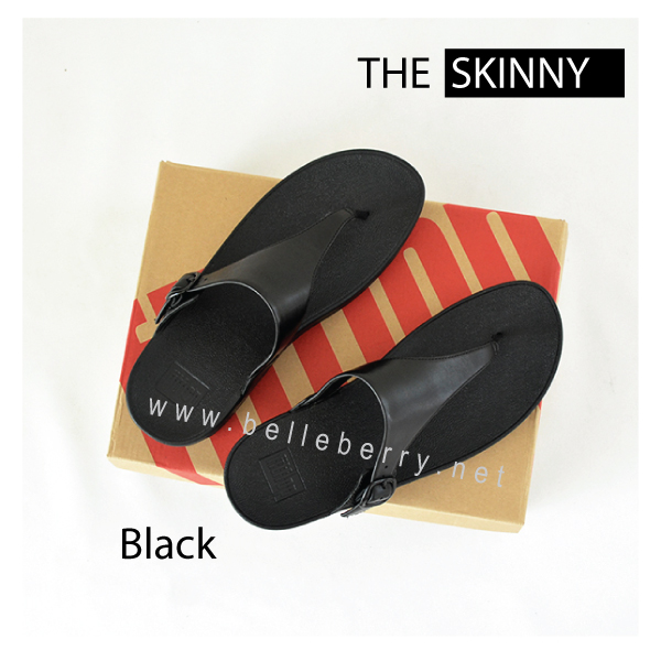 * NEW * FitFlop The Skinny : All Black : Size US 7 / EU 38