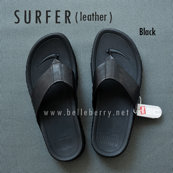 * NEW * FitFlop Men's : SURFER : Black : Size US 8 / EU 41