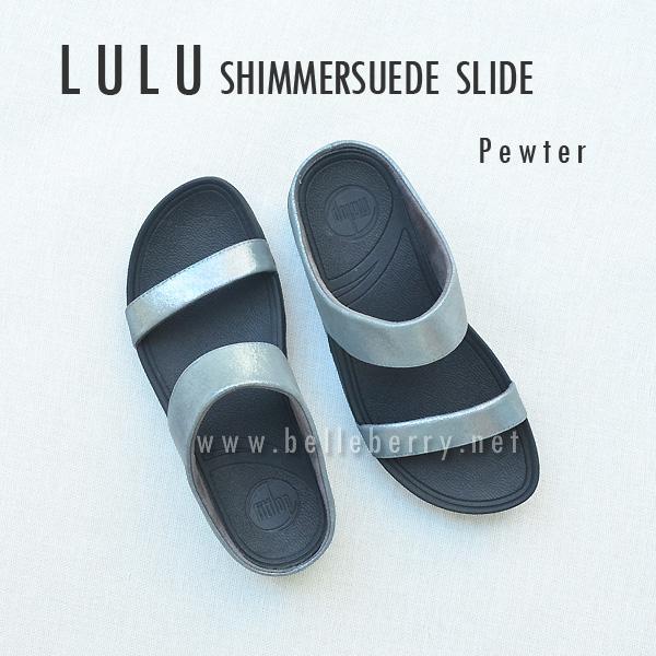 **พร้อมส่ง** FitFlop Lulu Shimmersuede Slide : Pewter : Size US 7 / EU 38