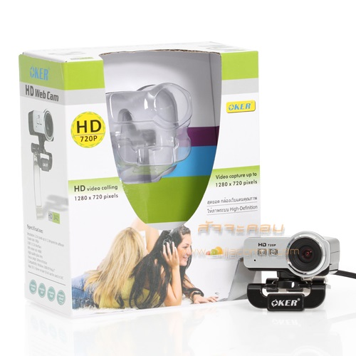 WebCam OKER (HD342) Silver/Black