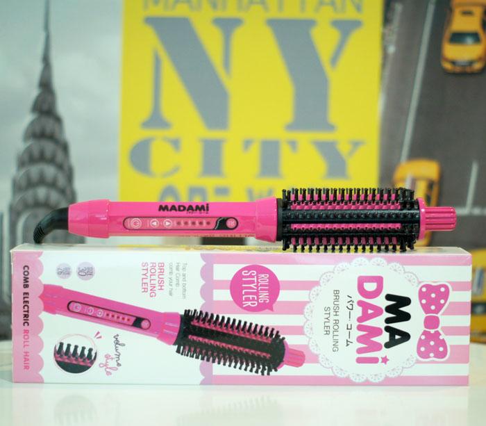 หวี madami brush rolling styler สำหรับสาวๆที่ชอบผมพองหนา มีวอลลุ่มหนักๆ