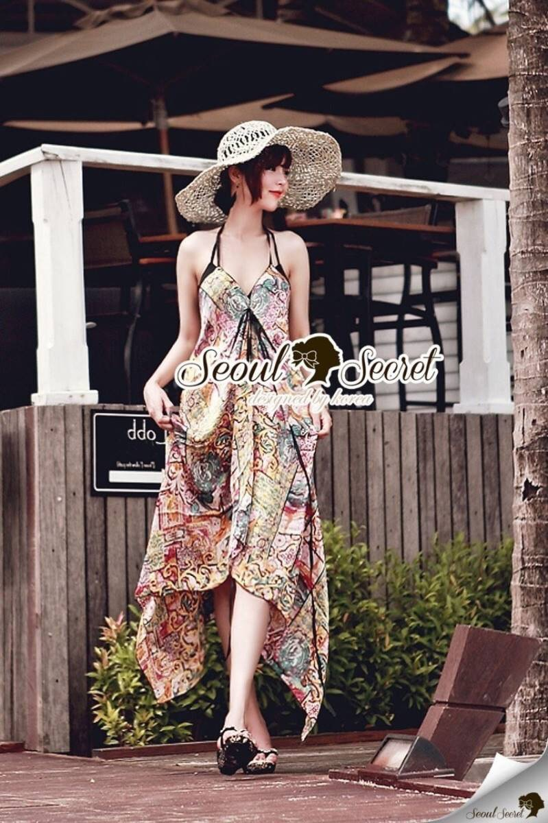 Seoul Secret Say's... Egypt Print Chic Maxi