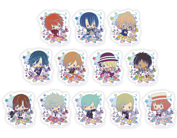 Utano Prince Sama Maji Love Revolutions Clear Brooch Collection 1 Box 12Pack