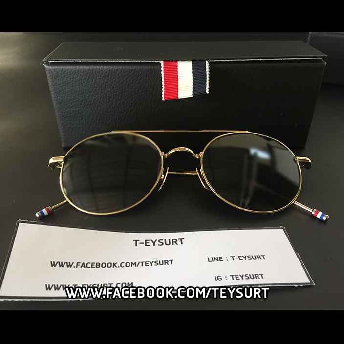 แว่นTHOM BROWNE GOLD 102F SUNGLASSED 1:1