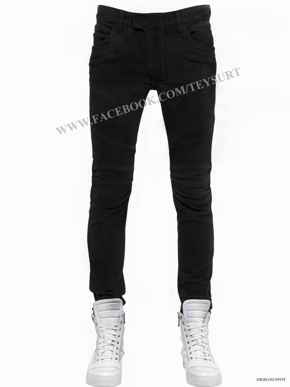 กางเกงBalmain-Biker In Black Denim Jeans (1:1)