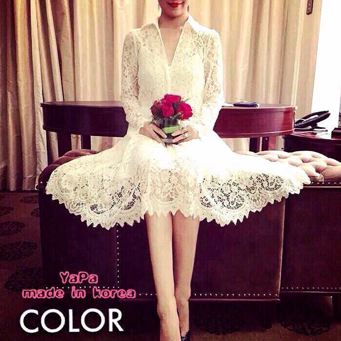 เสื้อผ้าเกาหลี พร้อมส่ง Chanel dress เนื้อผ้าวางชั้นผ้าได้อย่างลงตัว ใช้การตัดเย็บพิเศษอย่างดี