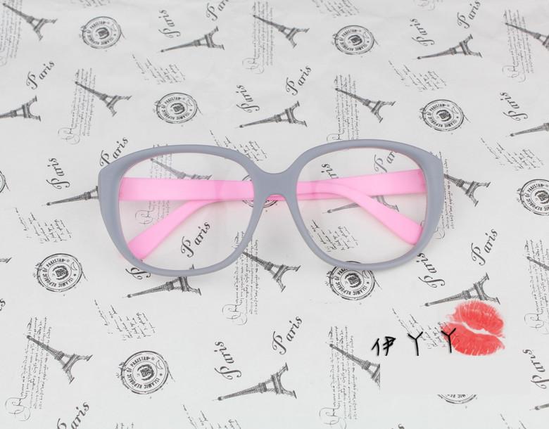แว่นตาแฟชั่นเกาหลี วินเทจเทาชมพู (พร้อมเลนส์)