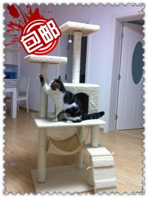 MU0052 คอนโดแมวห้าชั้น ต้นไม้แมว มีเปลไว้นอนพักผ่อน สูง 145 cm