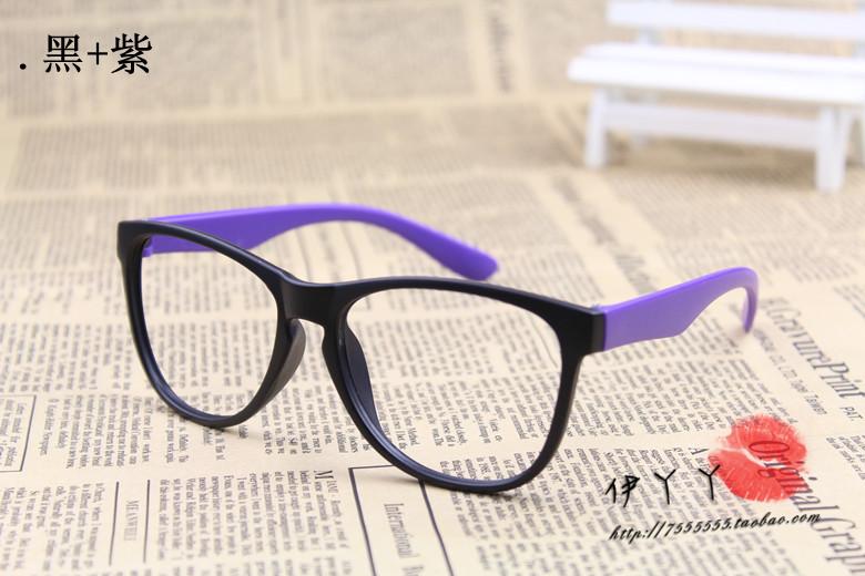 แว่นตาแฟชั่นเกาหลี สีดำม่วง (ไม่มีเลนส์)