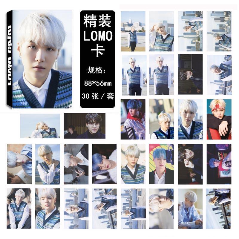 LOMO CARD BTS SUGA 30รูป