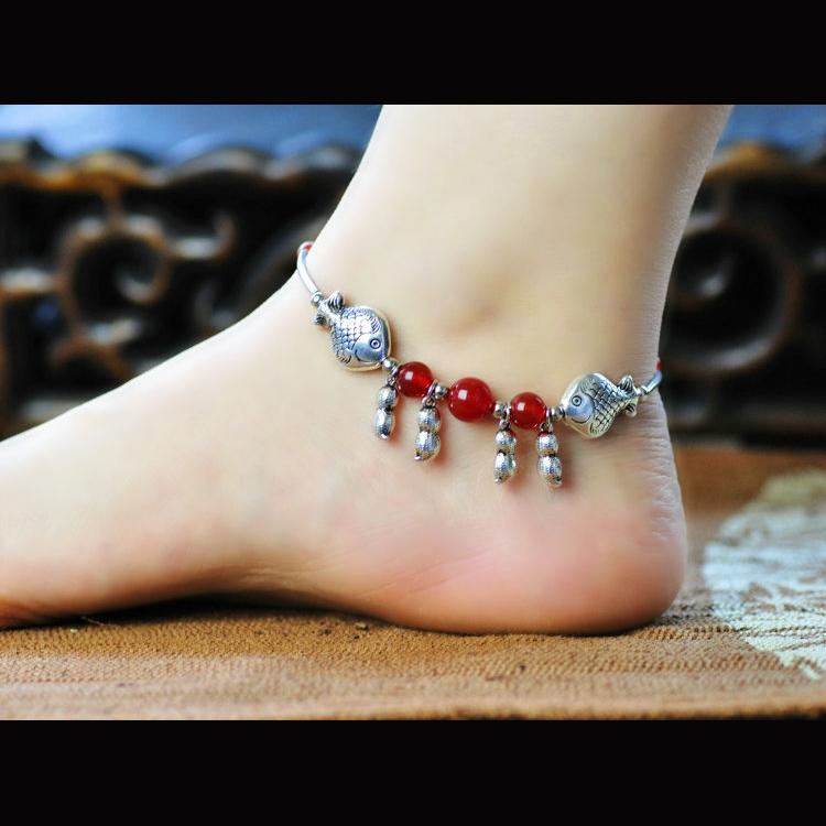 สร้อยข้อเท้า โมรา Lucky Anklets เงินราศีมีน 095