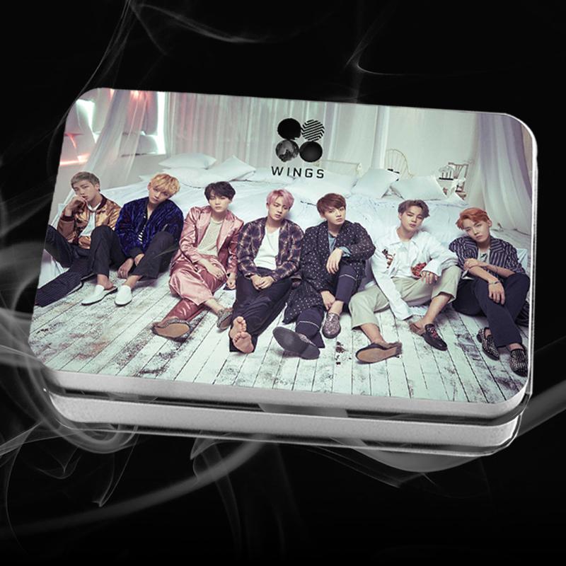 LOMO CARD +กล่องเหล็ก BTS WINGS