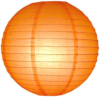 30 cm. โคมไฟกระดาษ ส้ม