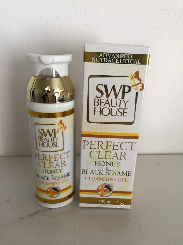 เจลล้างหน้าน้ำผึ้งงาดำ (เจลล้างหน้าลดสิว หน้าใส) Honey & Black sesame Cleansing Gel swp ขนาด 100 ml.