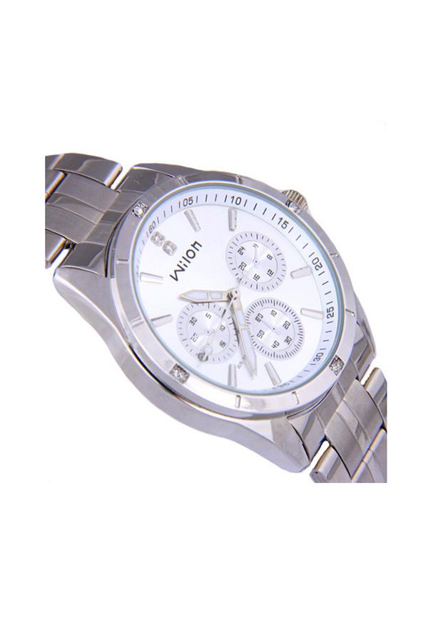 Wilon Veyron watches women นาฬิกาผู้หญิง แบรนด์ของฮ่องกง ระบบควอทด์ กันน้ำ กันสนิม สีขาว