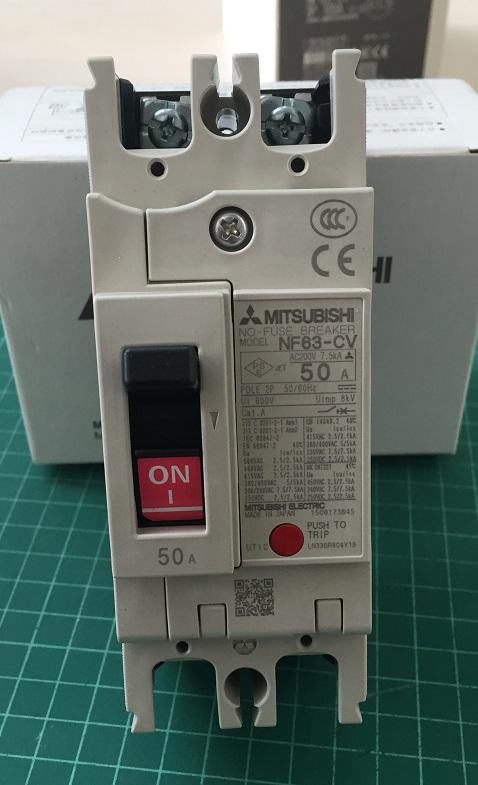 เบรกเกอร์ 2P 63CV 50A (7.5kA)